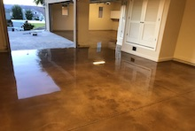 Stained and Sealed Concrete