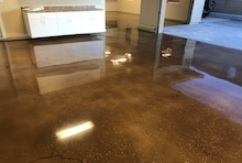 Polished Concrete With Integral Color